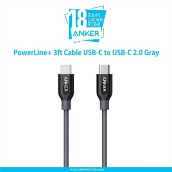 PowerLine+ 3ft Cable USB-C to USB-C 2.0 Gray A8187HA1