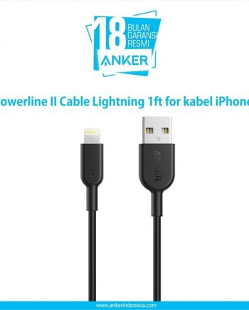 Anker Powerline II Cable Lightning 1ft for kabel iPhone A8431011