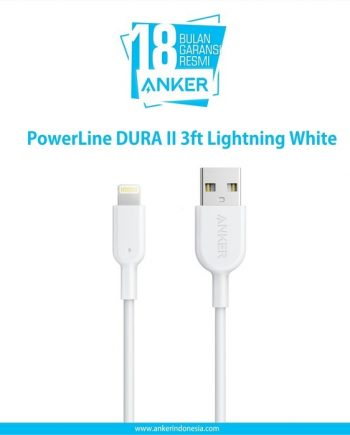PowerLine DURA II 3ft Lightning White A8432H21