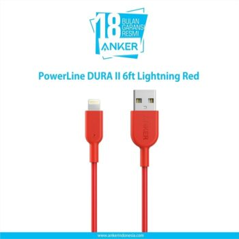PowerLine DURA II 6ft Lightning Red A8433H91