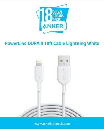PowerLine DURA II 10ft Cable Lightning White A8434H21